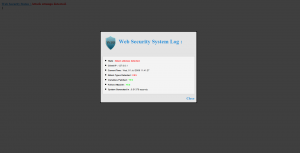 WSS Security System detected XSS and RLFI