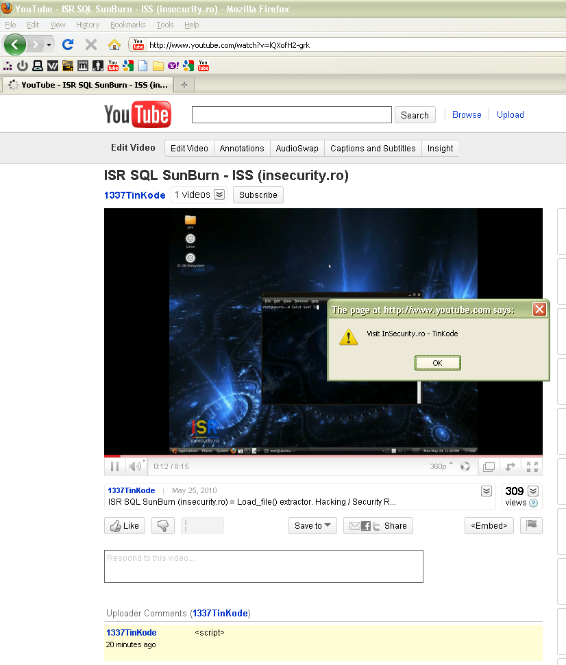 Popup Youtube - HTML Injection