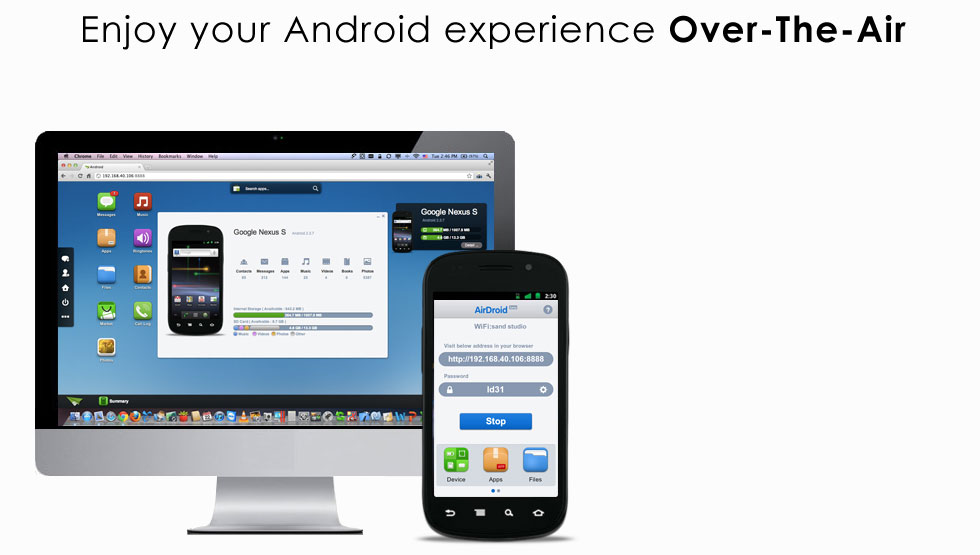 AirDroid - Android in browser